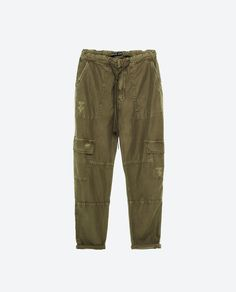 Image 8 of BAGGY CARGO TROUSERS from Zara
