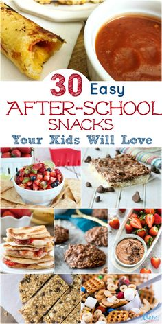 30 Easy AfterSchool Snacks Your Kids Will Love is part of Healthy homemade snacks - If you are short on ideas for afterschool snacks, you are in the right place! We have 30 DELICIOUS AfterSchool Snacks that sure to please! School Snacks For Kids, Easy Snacks For Kids, Diy Snacks, Snacks For Work, Lunch Snacks, Kids Meals, Healthy Teen Snacks, Healthy Afterschool Snacks, Healthy Homemade Snacks