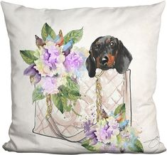 LiLiPi Pillows Let's Go Dachshund Pillow