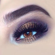 Gorgeous purple eye makeup with vice 3 by UD