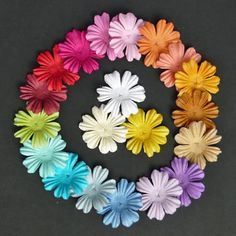 100 x SUMMER BLOOMS Mixed Colour MULBERRY PAPER FLOWERS for Paper Crafts & Cards #WildOrchidCrafts