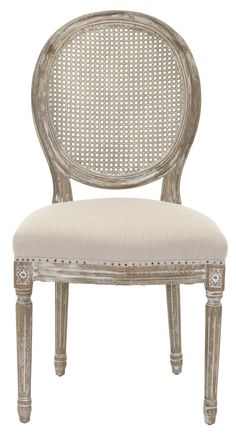 Safavieh Furniture - Vintage French charm infuses the romantic Lehana oak side chair. This set of two classic Louis XVI inspired dining chairs, featuring round cane backs and Upholstered Dining Side Chair, Furniture, French Dining Chairs, Arm Chairs Living Room, Dining Furniture, Furniture Chair, Side Chairs Dining, Side Chairs Living Room, Cane Back Chairs
