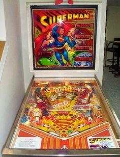 Superman pinball machine
