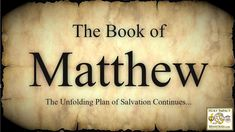 """Who was """"Matthew""""? Was Matthew just a tax collector? What did Matthew teach about our Messiah? What does Moses have to do with our Messiah? Who did Matthew teach that Yeshua (Jesus) was exactly? Did Matthew have another name according to Mark and Luke? Is the book of Matthew """"synoptic""""? Does the church today know what Matthew taught? Matthew Chapter 1, Book Of Matthew, Receiving The Holy Spirit, Plan Of Salvation, Greek Language, Jesus Quotes, New Testament, To Tell, The Book"""