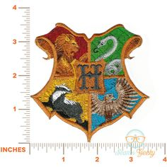 Harry Potter Patch Hogwarts House Crest Geeky Embroidered Iron on... ($11) ❤ liked on Polyvore featuring costumes, white halloween costumes, cosplay halloween costumes, white costumes, harry potter costumes and harry potter halloween costumes