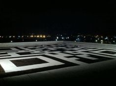 giant QR code on the roof of the new facebook headquarters