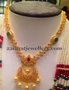 Jewellery Designs: Chandbali Patterned Necklace