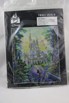 This is the Walt Disney World cross stitch set featuring Mickey Mouse and Cinderella Castle. International purchasers are responsible for any customs and/or duties assessed by their country.