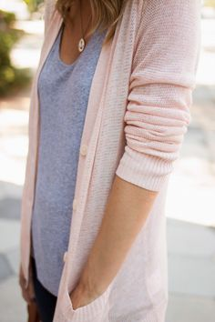 Lady Like Lace|| peach cardigan