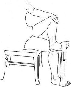 Tibialis posterior home exercise - Copyright – Stock Photo / Register Mark