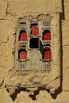 Windows in the Old City of Sana'a, Yemen.
