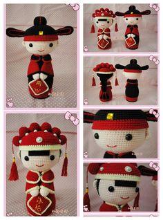 Mesmerizing Crochet an Amigurumi Rabbit Ideas. Lovely Crochet an Amigurumi Rabbit Ideas. Crochet Fairy, Crochet Cross, Knit Or Crochet, Crochet Patterns Amigurumi, Amigurumi Doll, Crochet Dolls, Kawaii Crochet, Wedding Doll, Crochet Wedding
