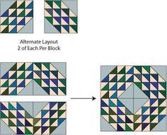 Ocean Waves Quilt Block Pattern - Janet Wickell