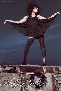 bat wing dress