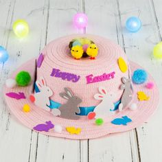 These Easter Bonnets are so easy to make. They are perfect for the Easter Bonnet or Easter Hat Parade. All of these Easter Hats can be modified to use whatever materials or supplies you have available to you. Happy Easter Messages, Happy Easter Wishes, Easter Hunt, Easter Eggs, Easter Crafts For Adults, Easter Ideas, Easter Hat Parade, Easter Festival, Diy Easter Decorations