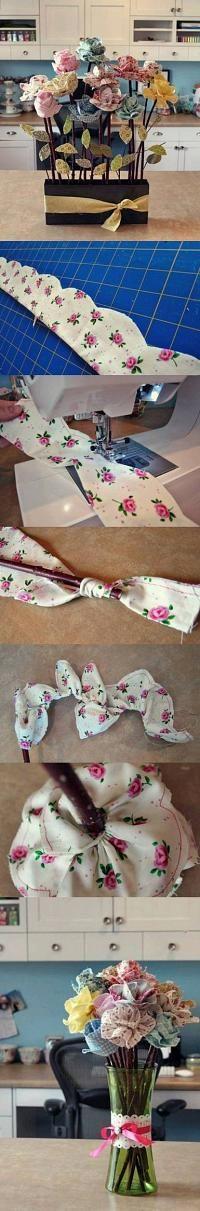 DIY Amazing Cloth Flower Bouquet #diy