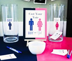 Grown Up Gender Reveal Party: Guy or Girl? | CatchMyParty.com