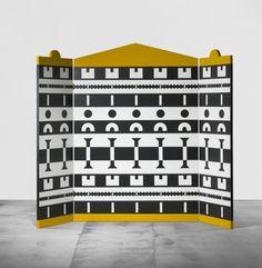 STUDIO ALCHIMIA    screen from the Ollo collection    Consorzio Esposizione Mobili  Italy, 1988  laminated plywood  93 w x 1.25 d x 73.5 h inches