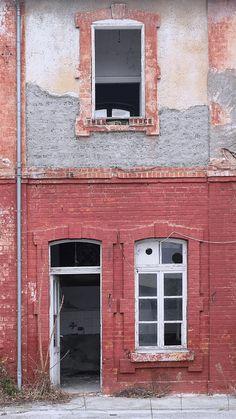 Αμαξοστάσιο του Ντεπώ. Τμήμα κτιρίου. (Ιανουάριος 2017)
