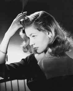 Elegant Laurent Bacall.