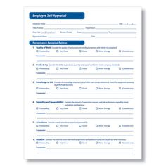 free employee evaluation forms printable google search baja sun pinterest. Black Bedroom Furniture Sets. Home Design Ideas