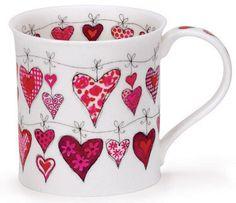 Dunoon - Fine Bone China Mugs - Bute Shape : Heartstrings Pink Sharpie Crafts, Sharpie Art, Sharpies, Pottery Designs, Mug Designs, Pottery Painting, Ceramic Painting, Pebeo Porcelaine 150, Painted Coffee Mugs