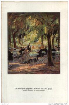 Im Münchner Hofgarten (Otto Pippel)  /  Druck, entnommen aus Zeitschrift, 1927