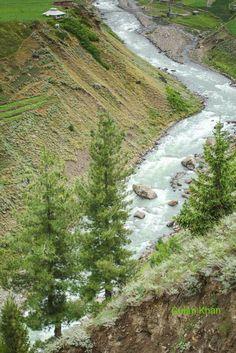 Great photography of the Kunhar river in Naran, Kaghan, Swat valley kpk Pakistan