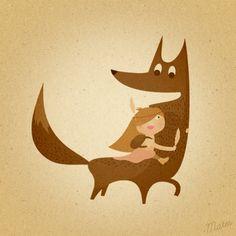 "Illustration 2013 ""Ukapupika world"" by Vera Matys, via Behance"