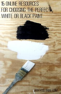 Resources for Picking out White and Black Paint Colors
