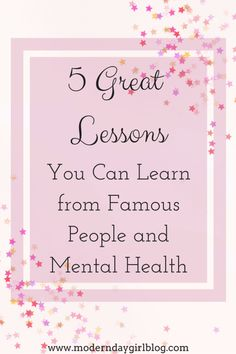 Famous people and mental health