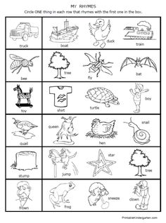 Free Kindergarten Rhyming Worksheets for December | Kindergarten ...