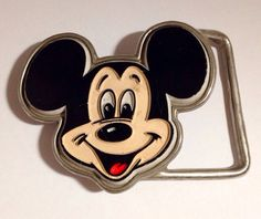 Vintage 1960s Mickey Mouse Belt Buckle  by VintyThreads on Etsy, $25.00