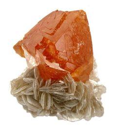 Scheelite, CaWO₄, Ping Wu, Sichuan Province, China. Size 5.5 x 4.9 x 3.7 cm