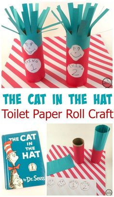 Cat in the Hat Toilet Paper Roll Craft You are in the right place about happy birthday dr seuss crafts Here we offer you the most beautiful pictures about the dr seuss crafts math you are looking for. Dr. Seuss, Dr Seuss Week, Daycare Crafts, Classroom Crafts, Crafts For Kids, Classroom Ideas, Dr Seuss Activities, Preschool Activities, Book Activities