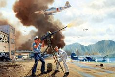 Warriors of Kaneohe, by Jim Laurier (Mitsubishi A6M2 Zero vs Consolidated PBY Catalina, Pearl Harbor Attack, Dec. 7, 1941)