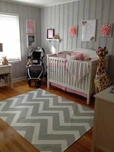 Love the gray, and can wait to add blue or pink after the baby's born :)