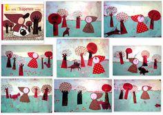 small heads of art Art Wall Kids, Art For Kids, Crafts For Kids, Kid Art, Baby Owls, Preschool Art, Felt Dolls, Christmas Baby, Red Riding Hood