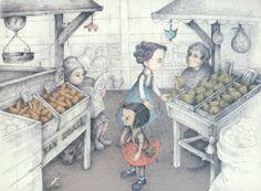 Ilustracioón de Claudia Rueda para la obra Letras robadas, de Triunfo Arciniegas.
