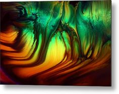 Vivid Abstract Art Luminescent Forest By Kredart Metal Print by Serg Wiaderny.  All metal prints are professionally printed, packaged, and shipped within 3 - 4 business days and delivered ready-to-hang on your wall. Choose from multiple sizes and mounting options.