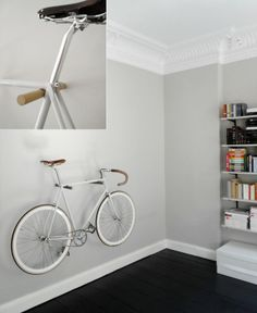 minimal wooden bike hook large