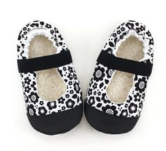 Buy Now monochrome mary janes black and white booties flower...