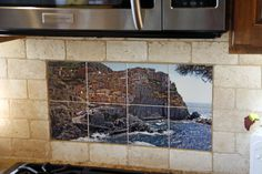 Photo Tile - picture printed on ceramic tiles for kitchen backsplash. Good home decor idea for kitchen remodel. http://custom-tiles.com/