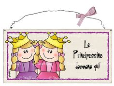 targa principesse Party Co, Country Paintings, Alice, Craft Party, Kids Decor, Wooden Signs, Decor Crafts, Dress Hairstyles, Paper Dolls