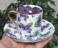 violet demitasse cup. I just bought this one at a little shop last week. It's so pretty.