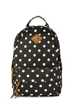 Polkadot backpack.