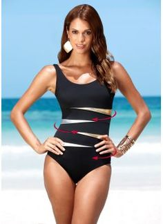 Objective M&m Mid Sleeves Black One Piece Swimsuit 2018 New Summer Sexy Ruffle Women Swimwear Retro Surfing Diving Beach Wear Body Suits Sports & Entertainment
