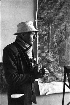 Pierre Bonnard dans son atelier, 1944 | by Henri Cartier Bresson