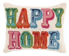 EMAIL to place order - Happy Home Hook Pillow – Heart & Home