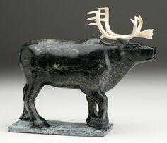 Bull Caribou by Samonie Toonoo, Inuit artist (Q60904)